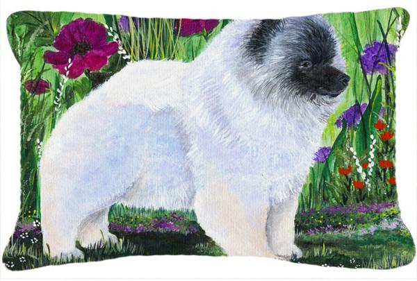 Keeshond Decorative   Canvas Fabric Pillow by Caroline's Treasures