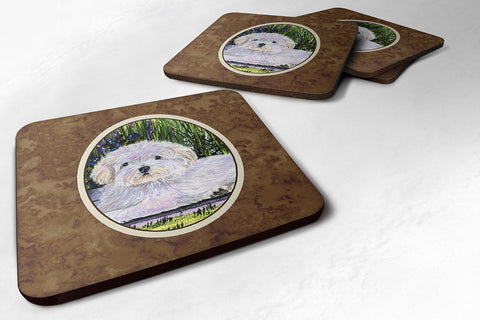 Buy this Set of 4 Coton de Tulear Foam Coasters
