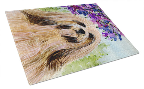 Buy this Lhasa Apso Glass Cutting Board Large