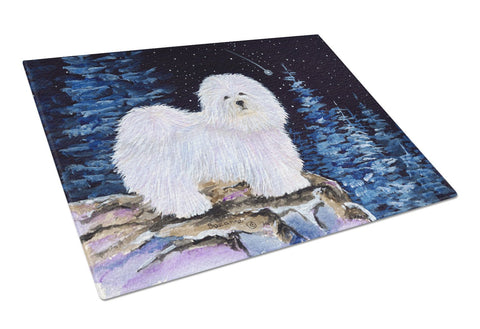 Buy this Starry Night Coton de Tulear Glass Cutting Board Large