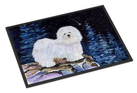 Buy this Starry Night Coton de Tulear Indoor Outdoor Mat 18x27 Doormat
