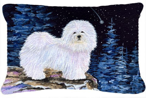Buy this Starry Night Coton de Tulear Decorative   Canvas Fabric Pillow