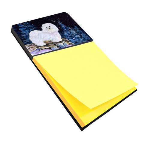 Buy this Starry Night Coton de Tulear Refiillable Sticky Note Holder or Postit Note Dispenser SS8437SN