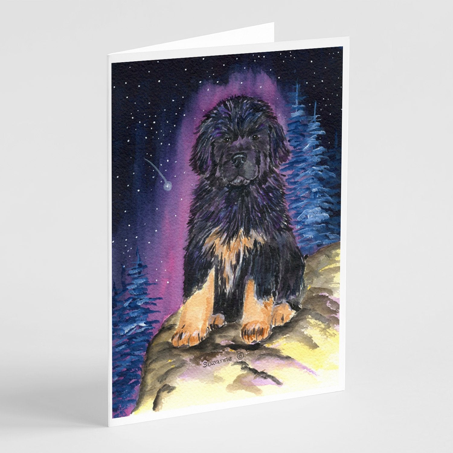 Buy this Starry Night Tibetan Mastiff Greeting Cards and Envelopes Pack of 8
