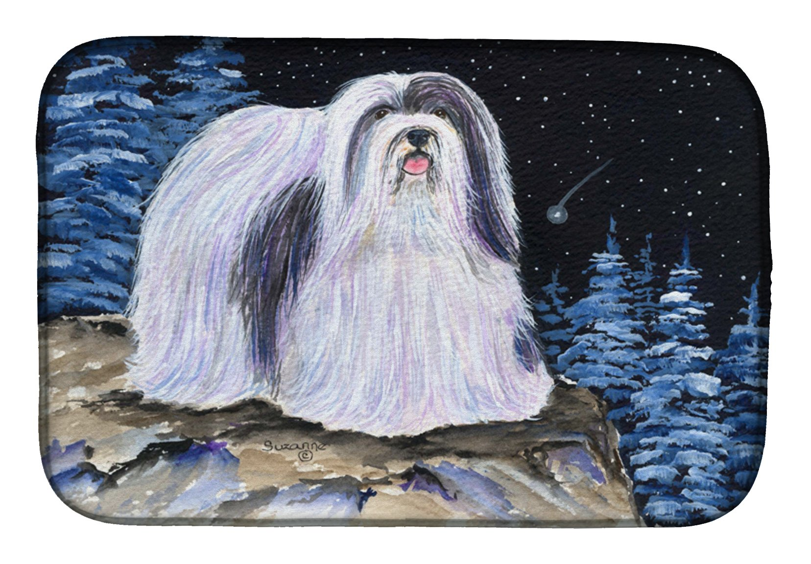 Starry Night Havanese Dish Drying Mat SS8450DDM by Caroline's Treasures