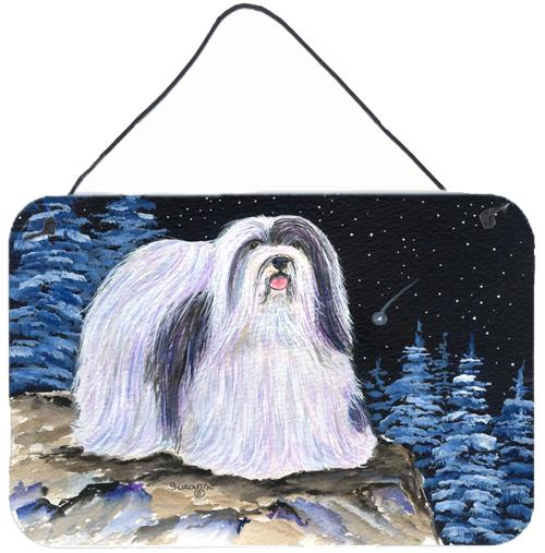 Starry Night Havanese Indoor Aluminium Metal Wall or Door Hanging Prints by Caroline's Treasures
