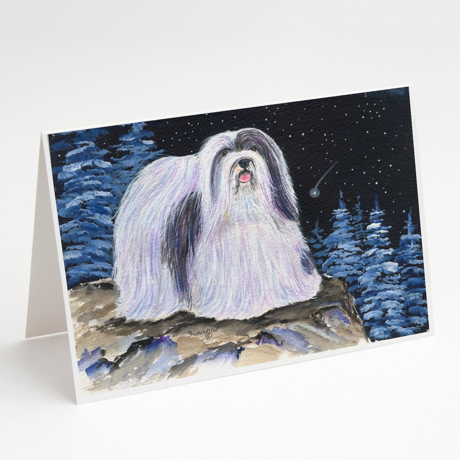 Buy this Starry Night Havanese Greeting Cards and Envelopes Pack of 8
