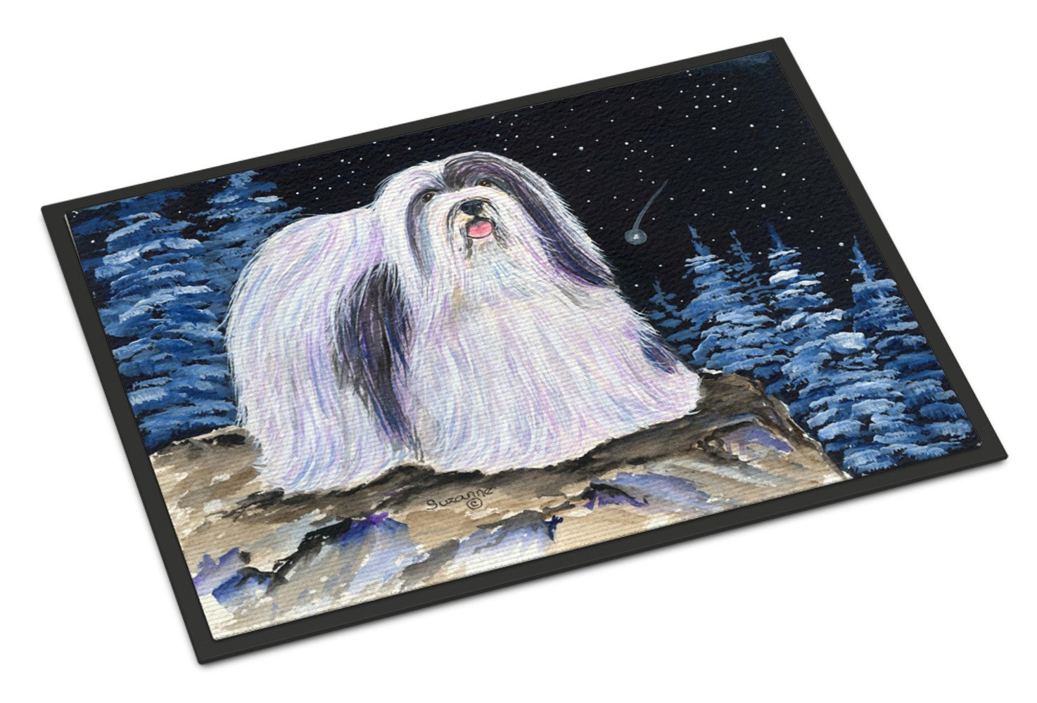 Starry Night Havanese Indoor Outdoor Mat 18x27 Doormat - the-store.com