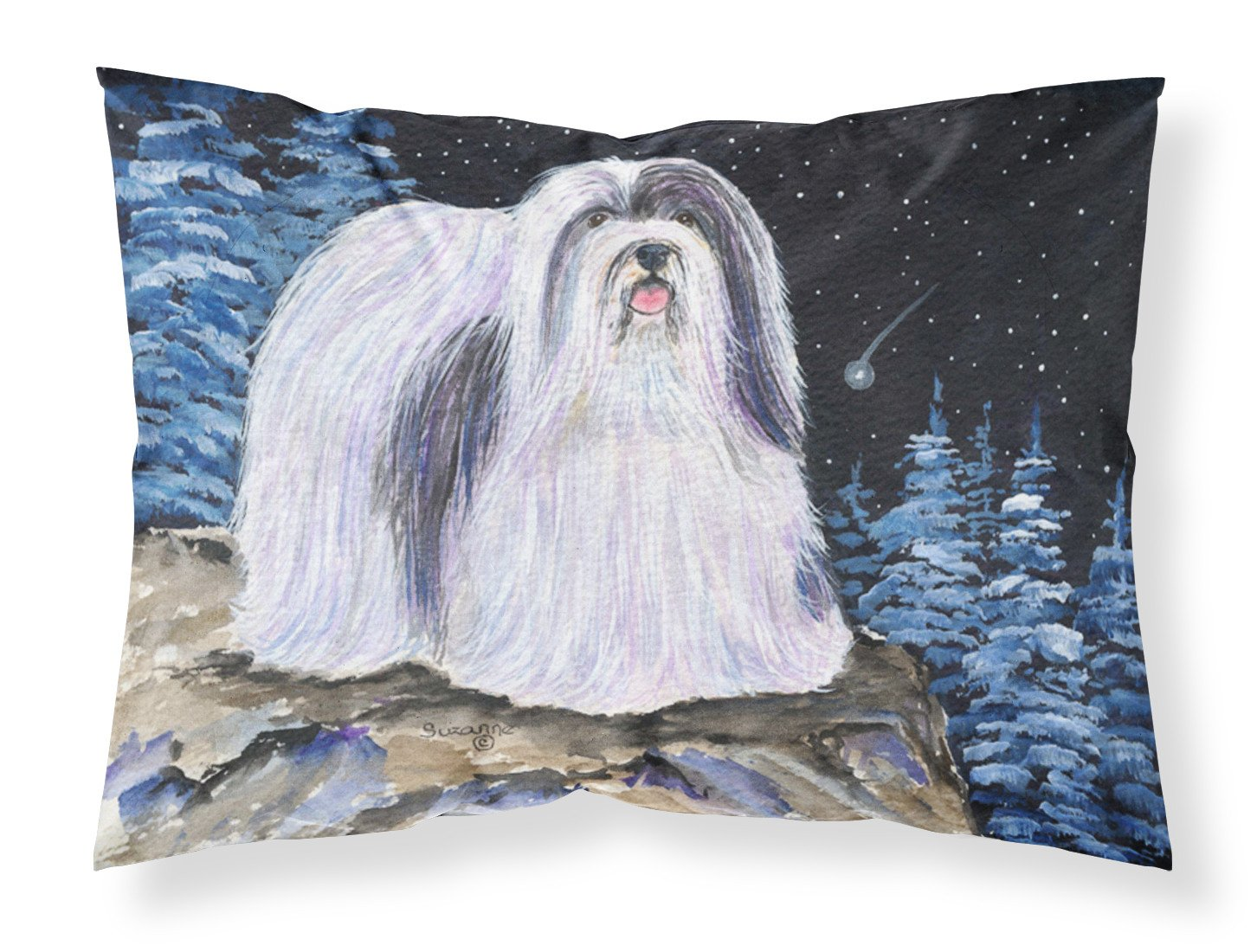 Starry Night Havanese Moisture wicking Fabric standard pillowcase by Caroline's Treasures