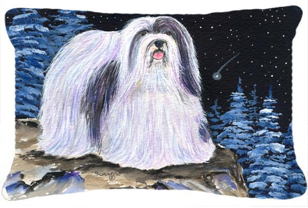 Starry Night Havanese Decorative   Canvas Fabric Pillow by Caroline's Treasures