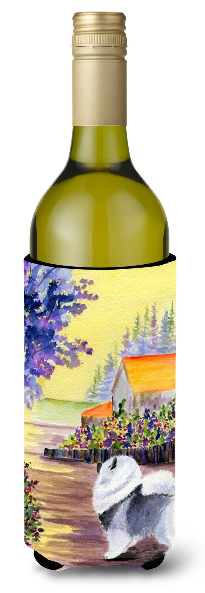 Keeshond Wine Bottle Beverage Insulator Beverage Insulator Hugger SS8452LITERK by Caroline's Treasures