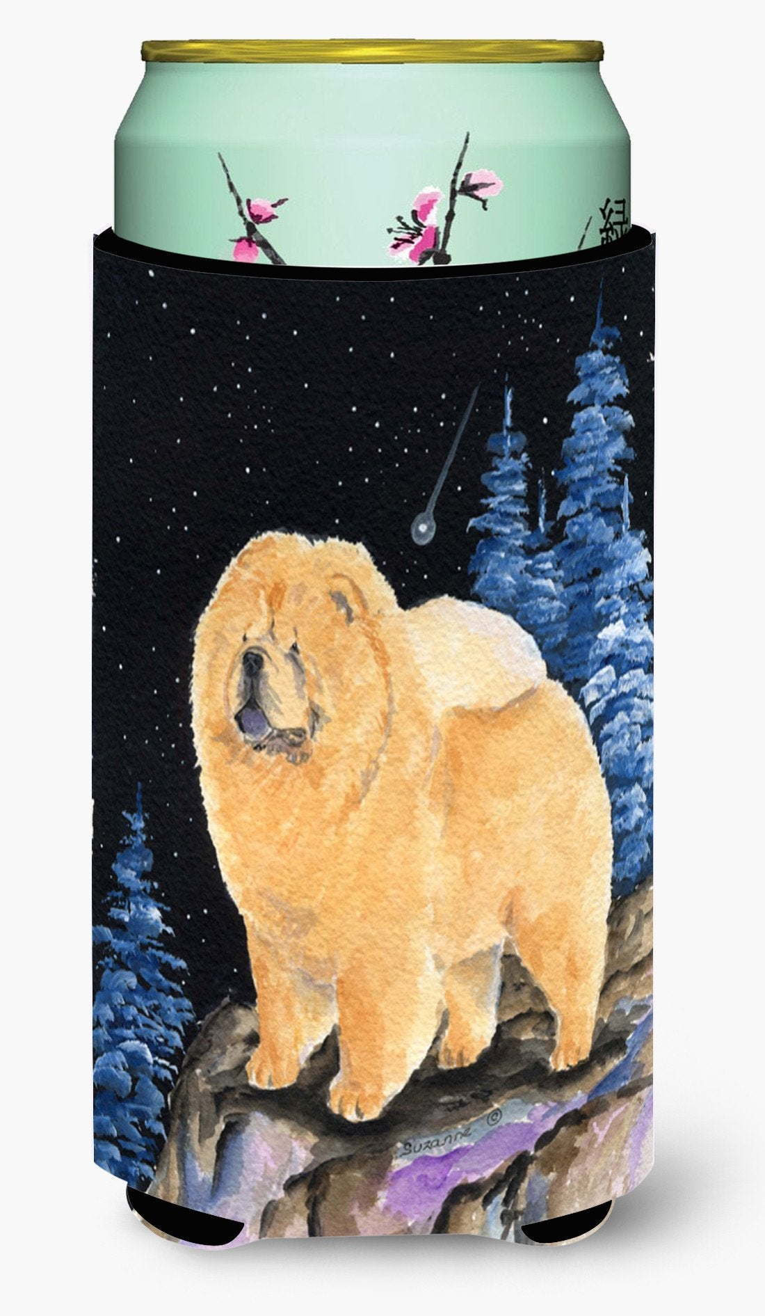 Starry Night Chow Chow  Tall Boy Beverage Insulator Beverage Insulator Hugger by Caroline's Treasures