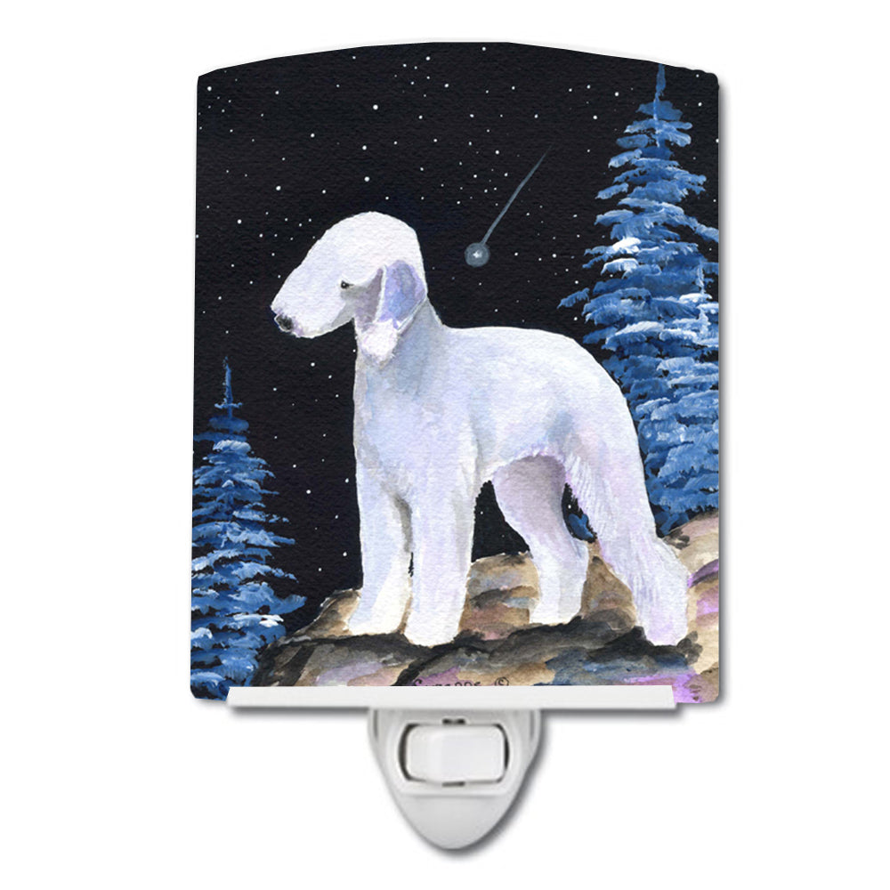 Starry Night Bedlington Terrier Ceramic Night Light SS8455CNL by Caroline's Treasures