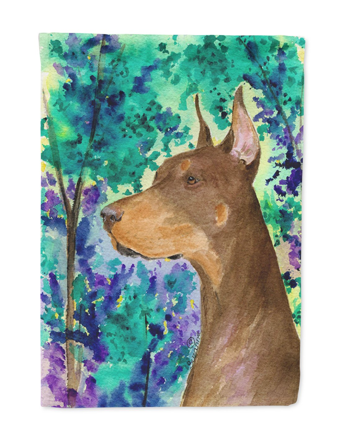 Buy this Doberman Flag Garden Size