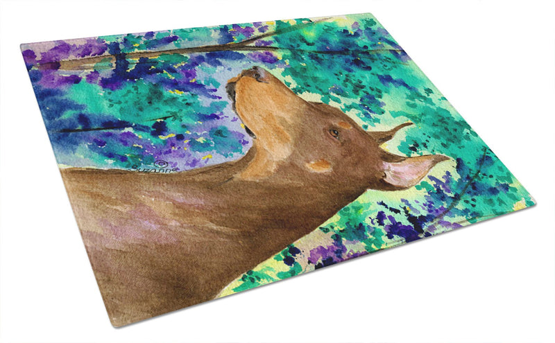 Buy this Doberman Glass Cutting Board Large