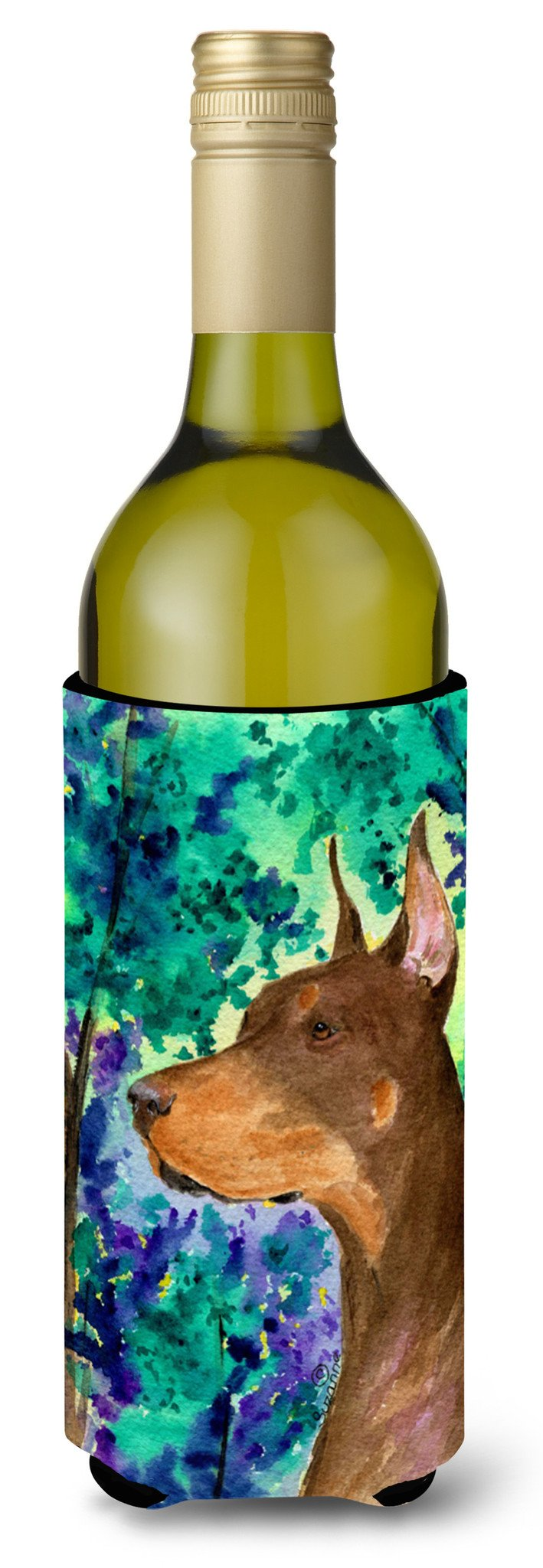 Buy this Doberman Wine Bottle Beverage Insulator Beverage Insulator Hugger SS8457LITERK