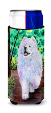 Samoyed Ultra Beverage Insulators for slim cans SS8458MUK by Caroline's Treasures