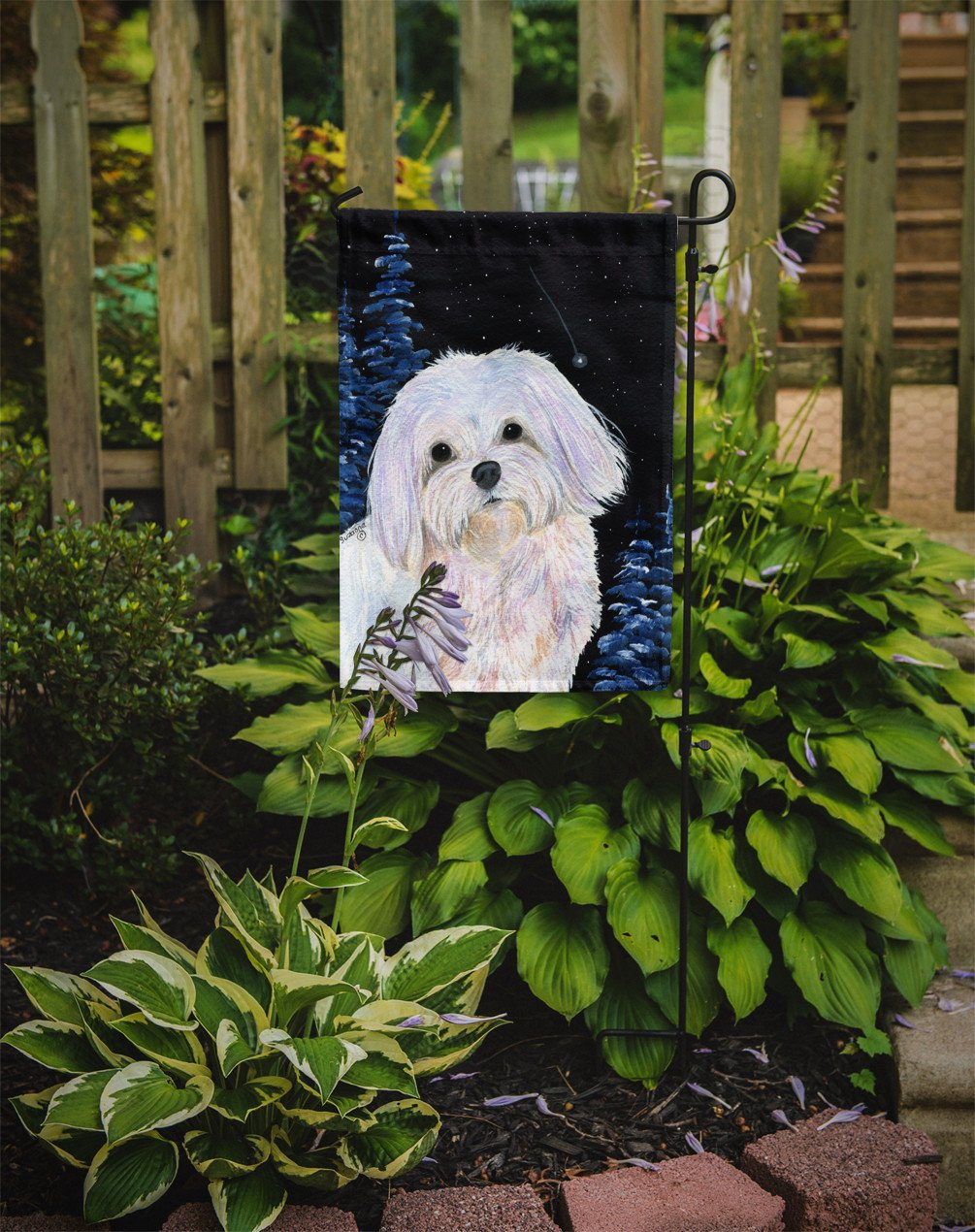 Starry Night Maltese Flag Garden Size - the-store.com