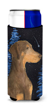 Starry Night Doberman Ultra Beverage Insulators for slim cans SS8462MUK by Caroline's Treasures