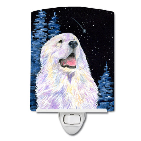 Buy this Starry Night Great Pyrenees Ceramic Night Light SS8466CNL