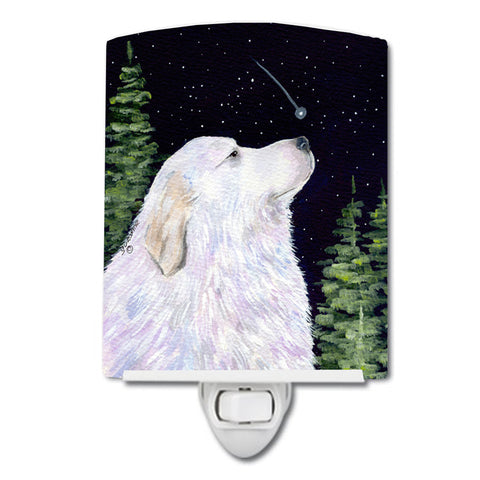 Buy this Starry Night Great Pyrenees Ceramic Night Light SS8470CNL
