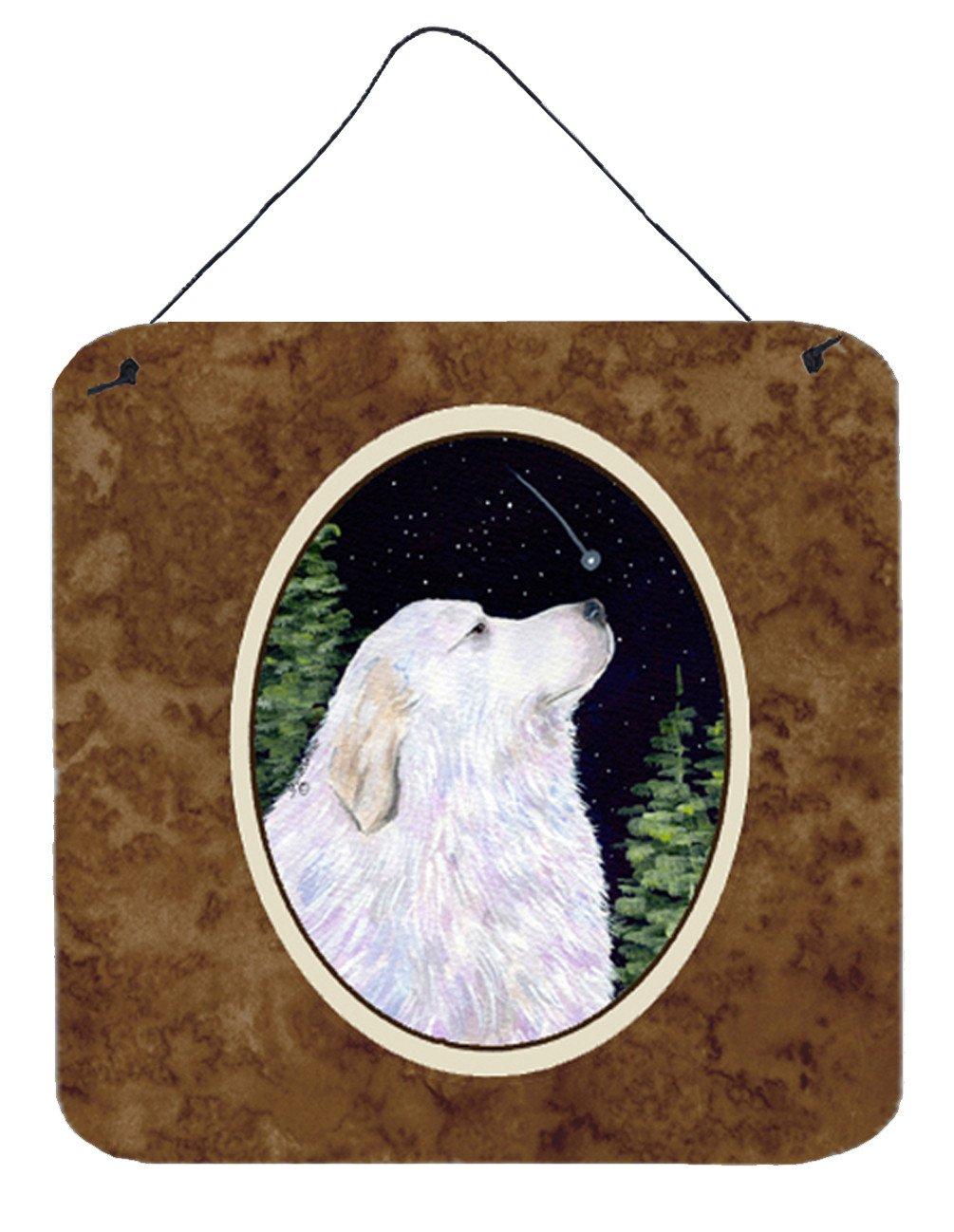 Starry Night Great Pyrenees Aluminium Metal Wall or Door Hanging Prints by Caroline's Treasures