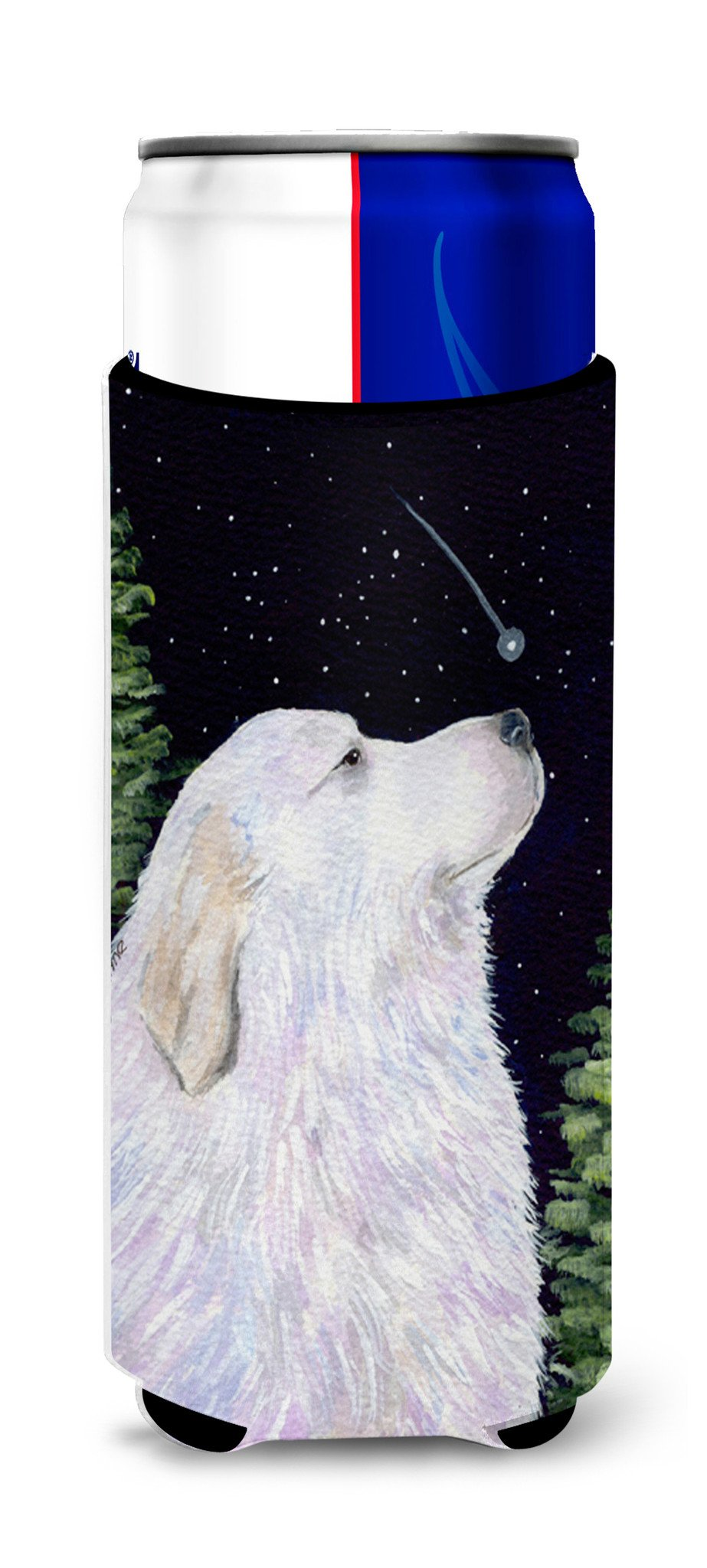 Starry Night Great Pyrenees Ultra Beverage Insulators for slim cans SS8470MUK by Caroline's Treasures