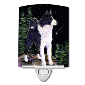 Buy this Starry Night Karelian Bear Dog Ceramic Night Light SS8483CNL