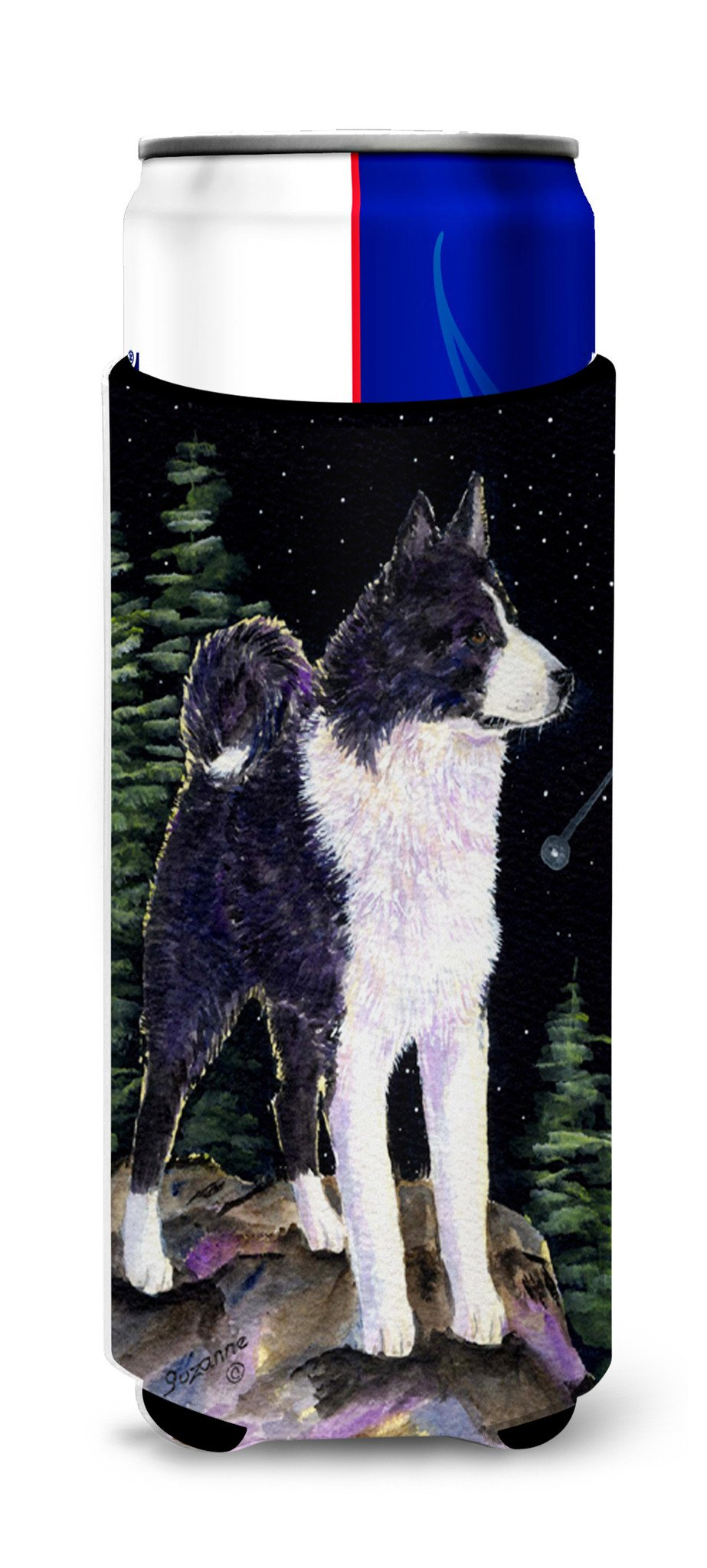 Buy this Starry Night Karelian Bear Dog Ultra Beverage Insulators for slim cans SS8483MUK