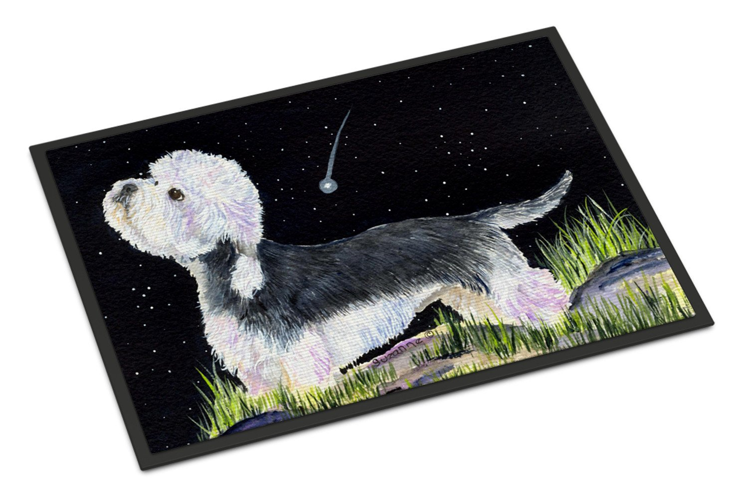 Starry Night Dandie Dinmont Terrier Indoor or Outdoor Mat 18x27 Doormat - the-store.com