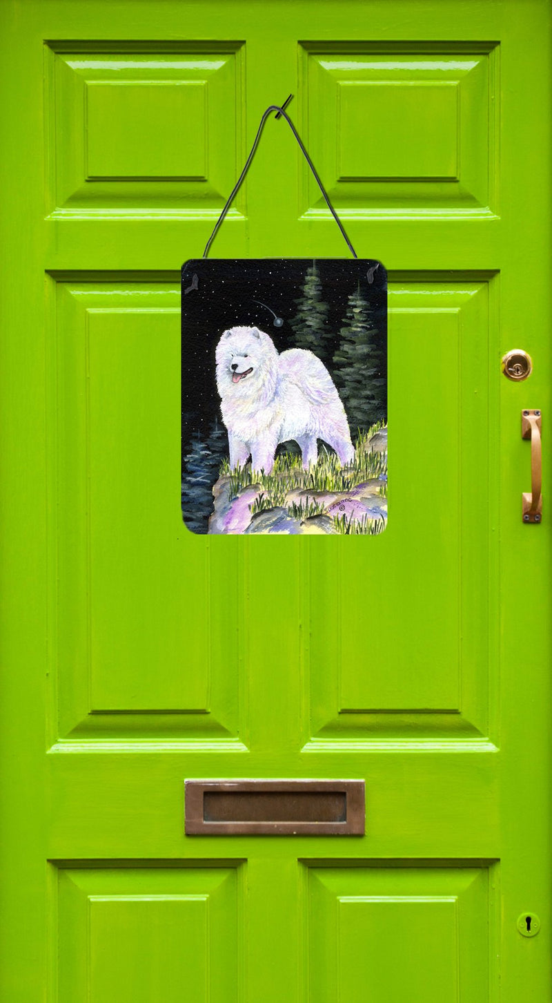 Buy this Starry Night Samoyed Aluminium Metal Wall or Door Hanging Prints