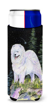 Starry Night Samoyed Ultra Beverage Insulators for slim cans SS8498MUK by Caroline's Treasures