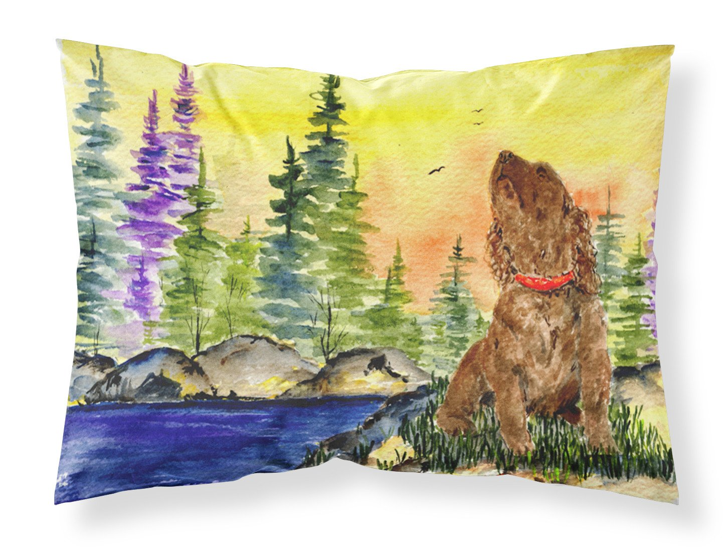 American Water Spaniel Moisture wicking Fabric standard pillowcase by Caroline's Treasures