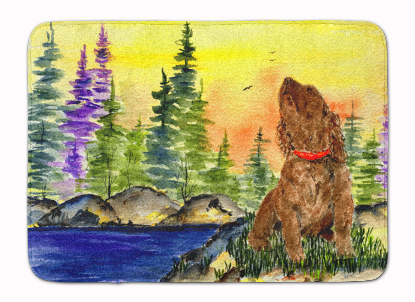 American Water Spaniel Machine Washable Memory Foam Mat SS8509RUG by Caroline's Treasures