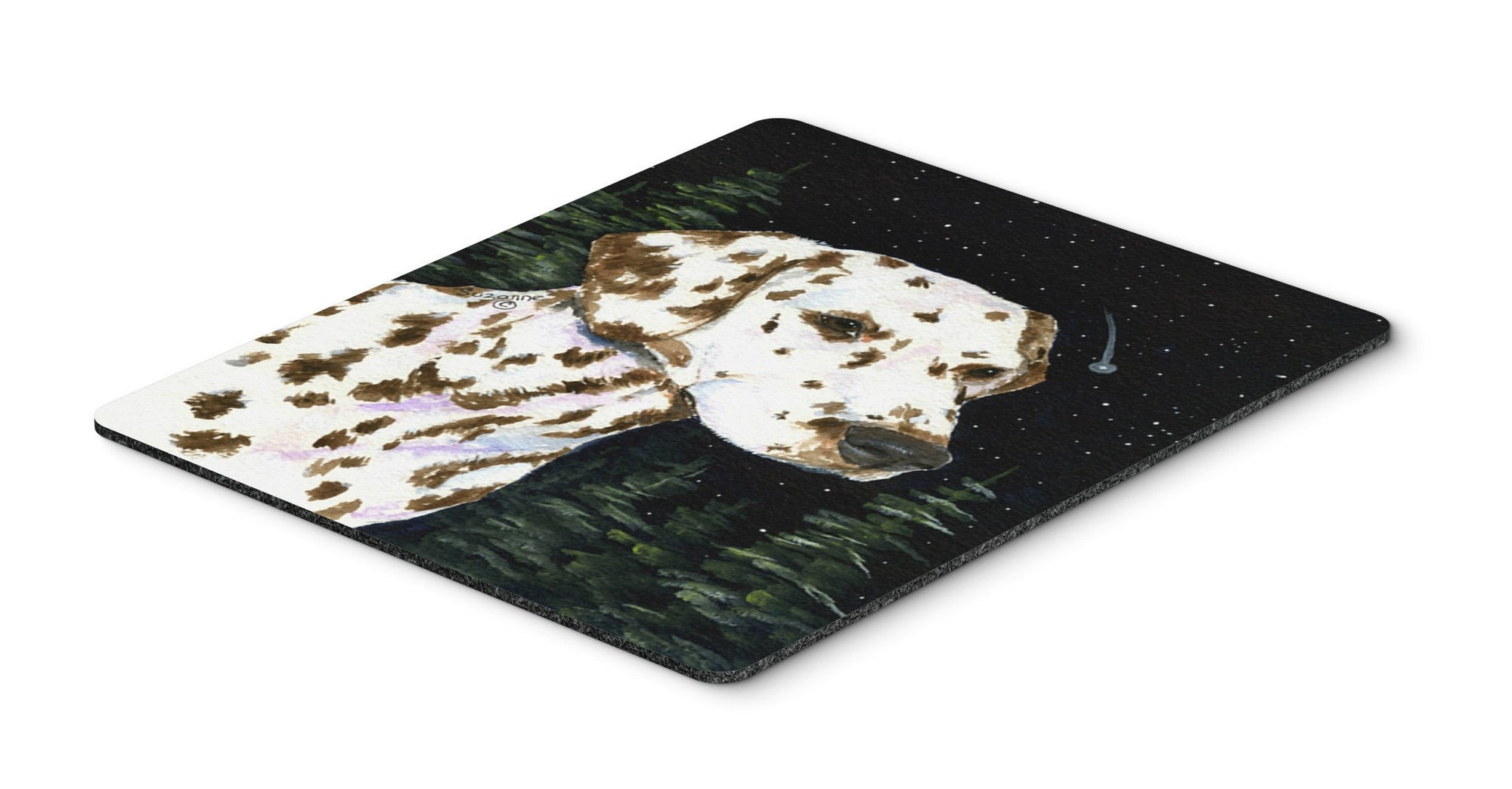 Starry Night Dalmatian Mouse Pad / Hot Pad / Trivet by Caroline's Treasures