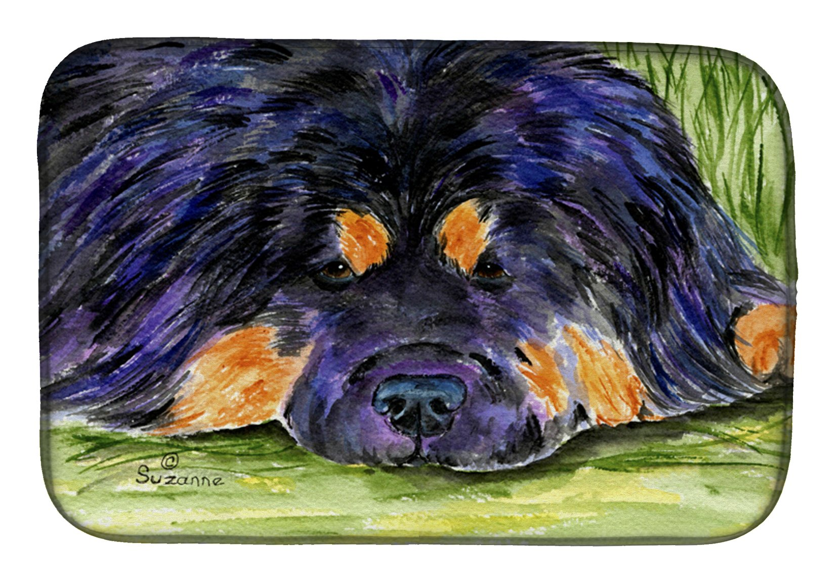 Tibetan Mastiff Dish Drying Mat SS8519DDM by Caroline's Treasures