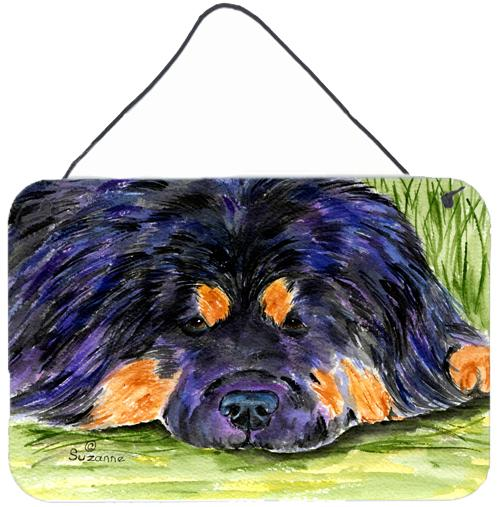 Tibetan Mastiff Indoor Aluminium Metal Wall or Door Hanging Prints by Caroline's Treasures