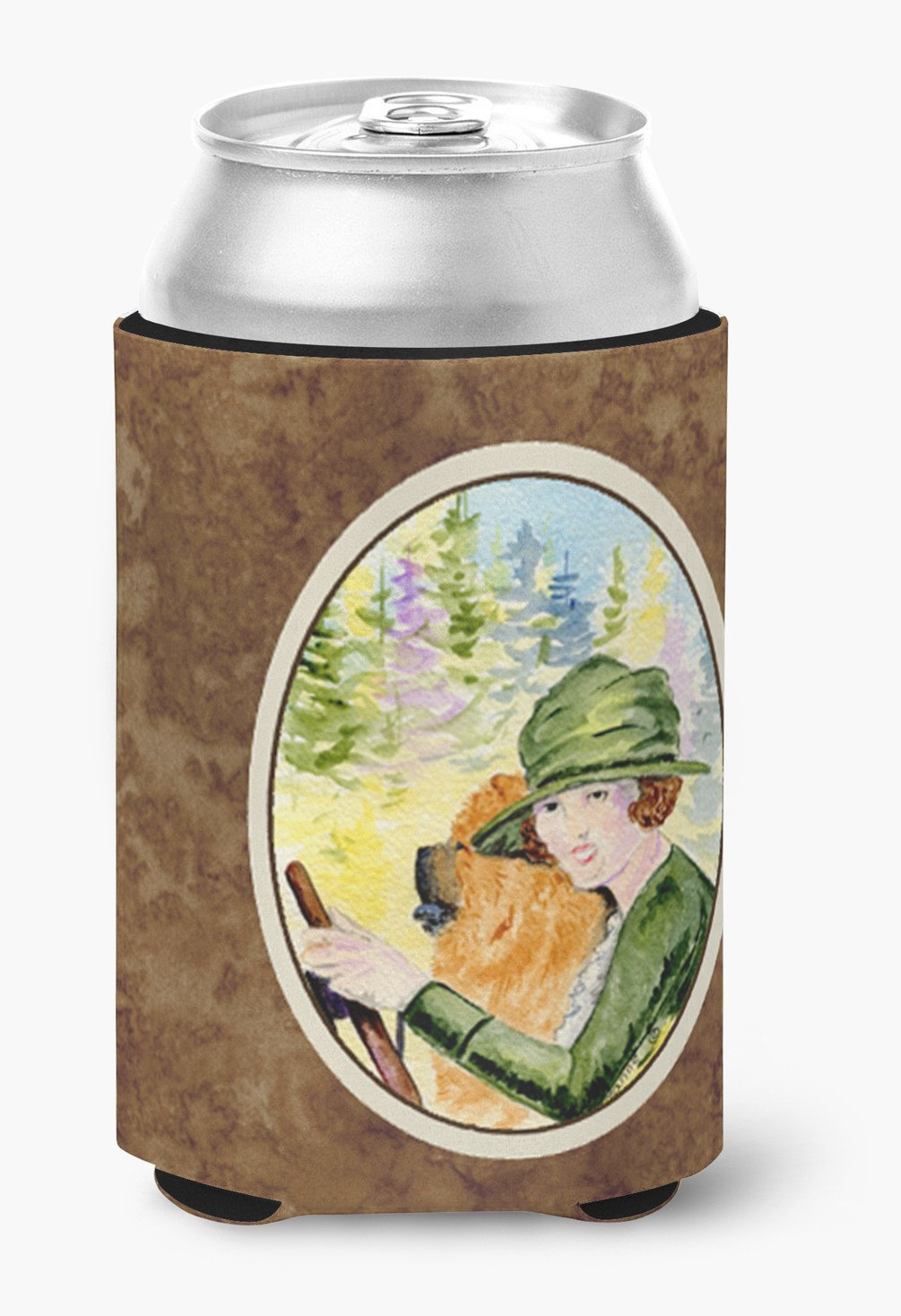 Lady driving with her Chow Chow Can or Bottle Beverage Insulator Hugger by Caroline's Treasures