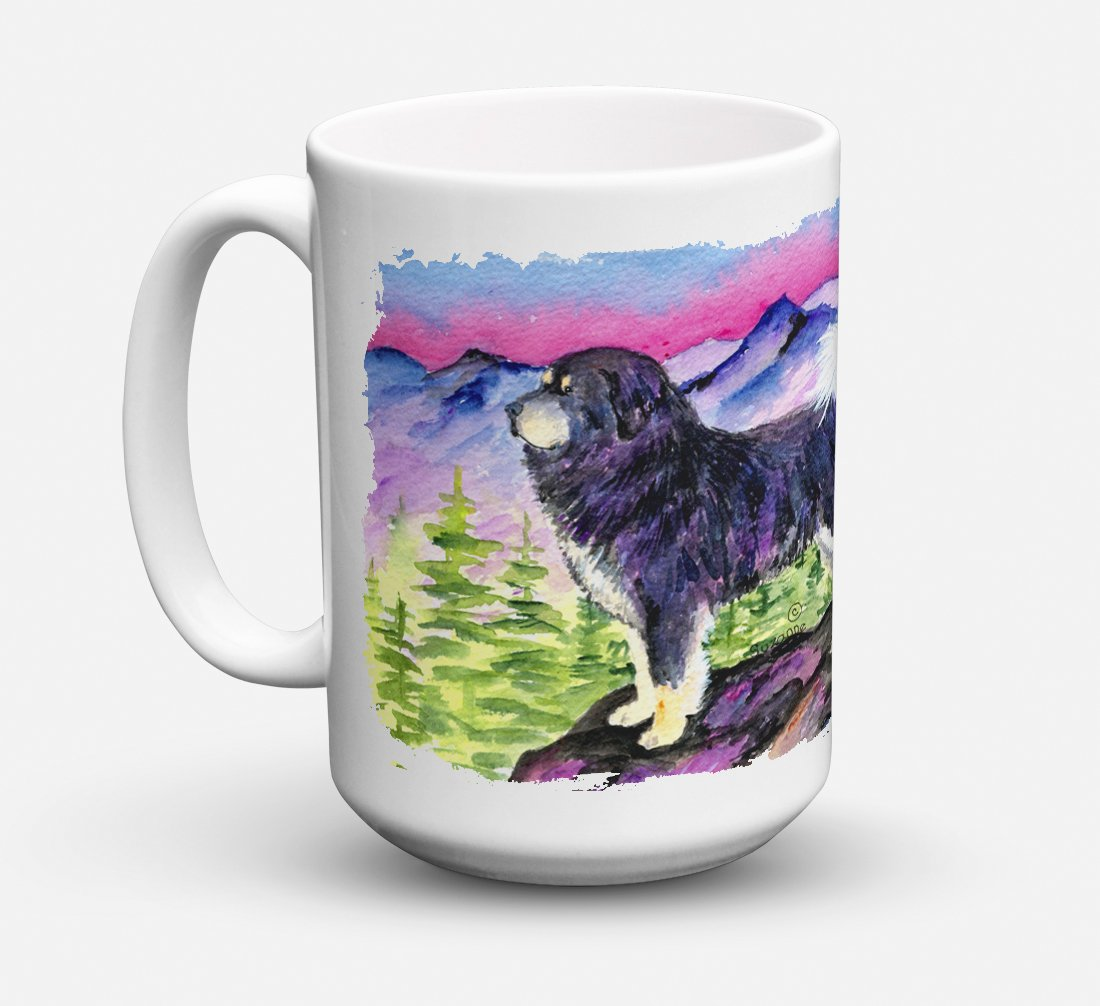 Tibetan Mastiff Dishwasher Safe Microwavable Ceramic Coffee Mug 15 ounce SS8528CM15 by Caroline's Treasures