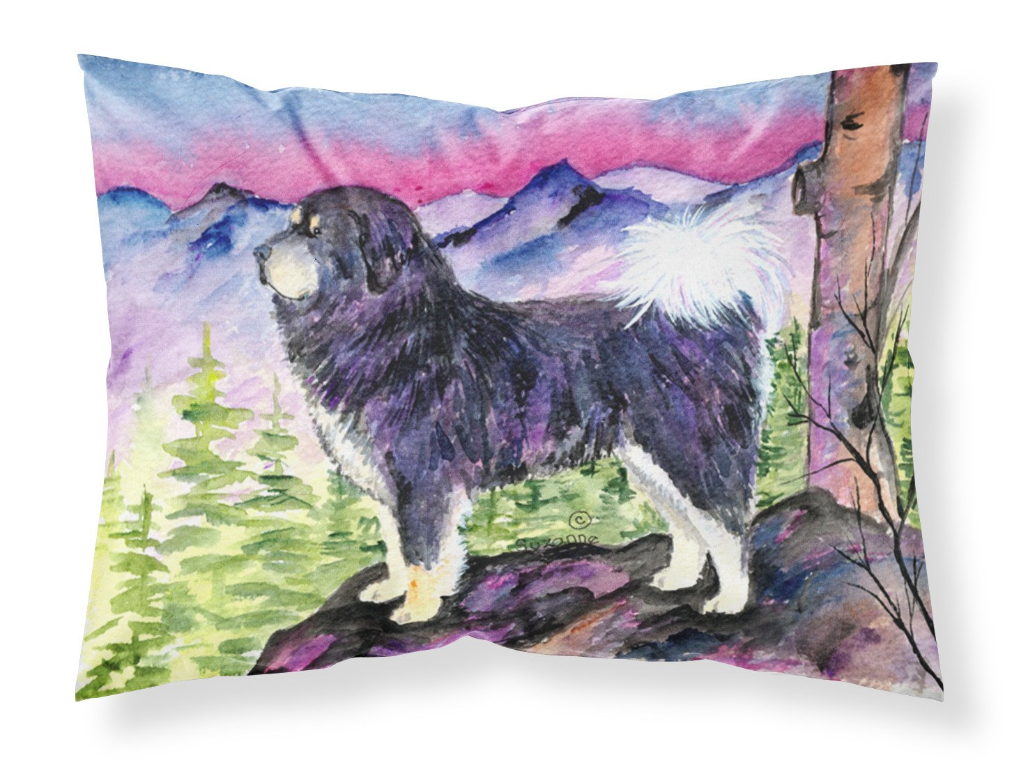 Tibetan Mastiff Moisture wicking Fabric standard pillowcase by Caroline's Treasures