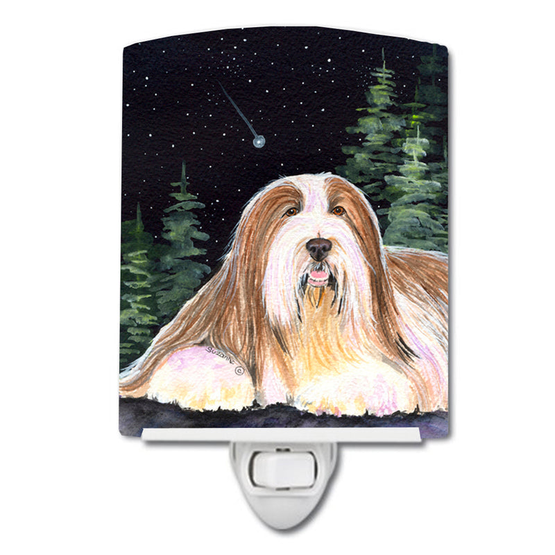 Buy this Starry Night Bearded Collie Ceramic Night Light SS8529CNL