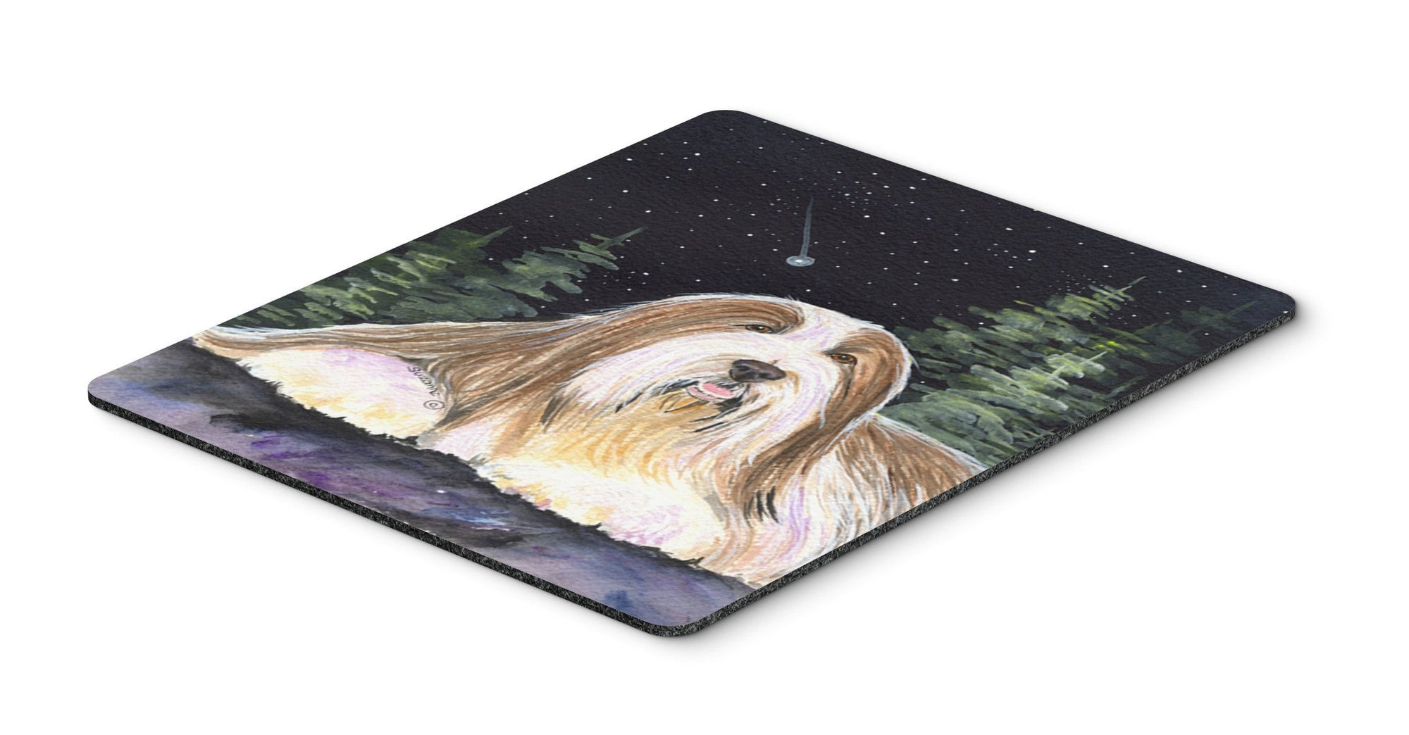 Buy this Starry Night Bearded Collie Mouse Pad, Hot Pad or Trivet