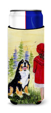Little Girl with her Bernese Mountain Dog Ultra Beverage Insulators for slim cans SS8531MUK by Caroline's Treasures