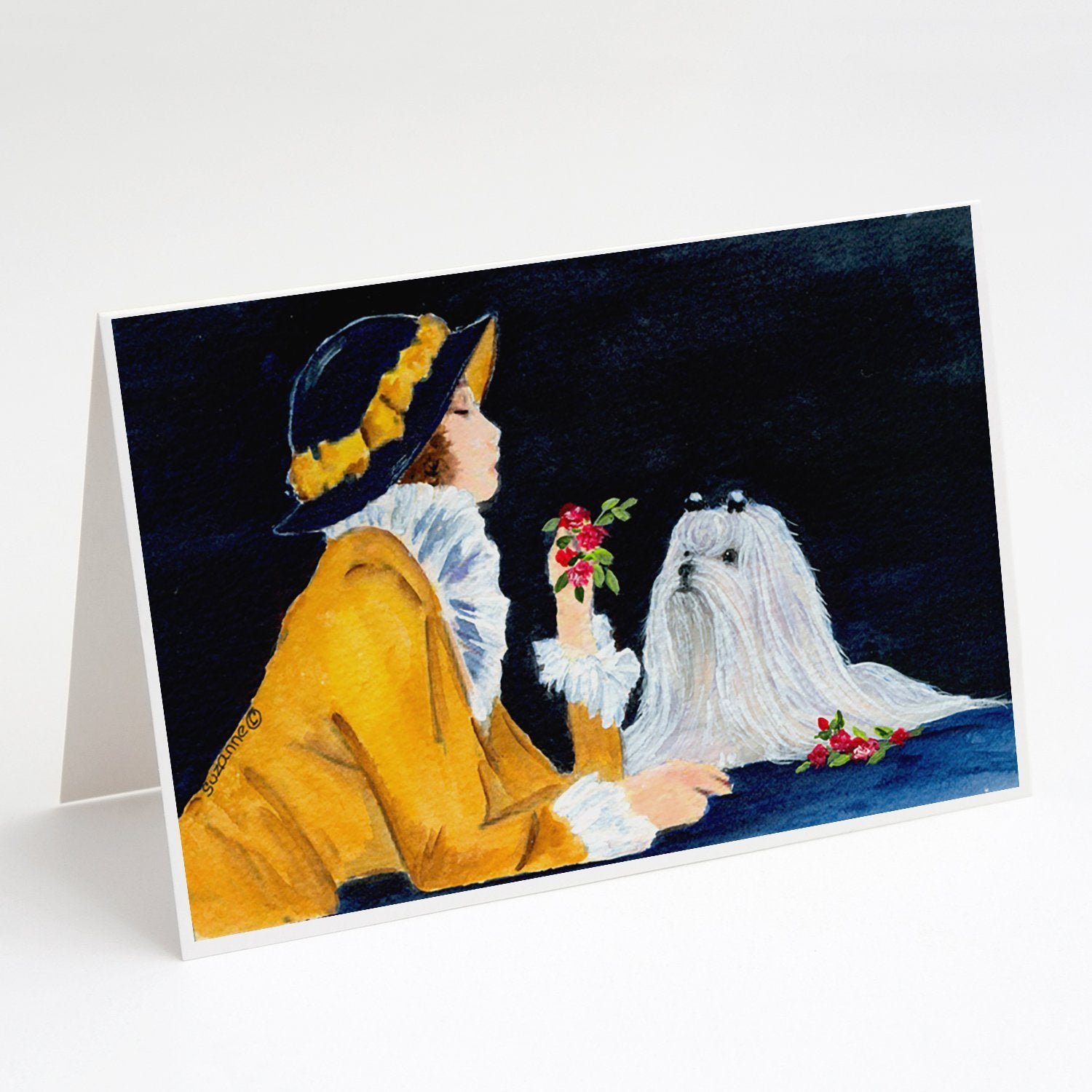 Buy this Lady with her Maltese Greeting Cards and Envelopes Pack of 8