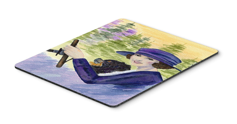 Buy this Lady driving with her Pomeranian Mouse Pad, Hot Pad or Trivet