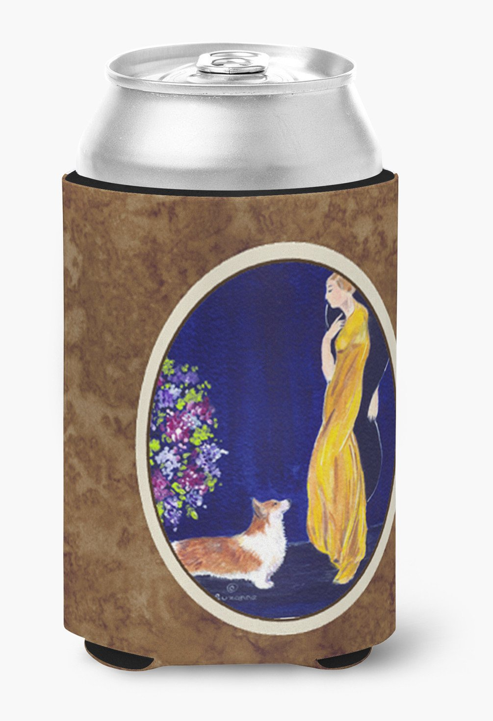 Buy this Lady with her Corgi Can or Bottle Beverage Insulator Hugger