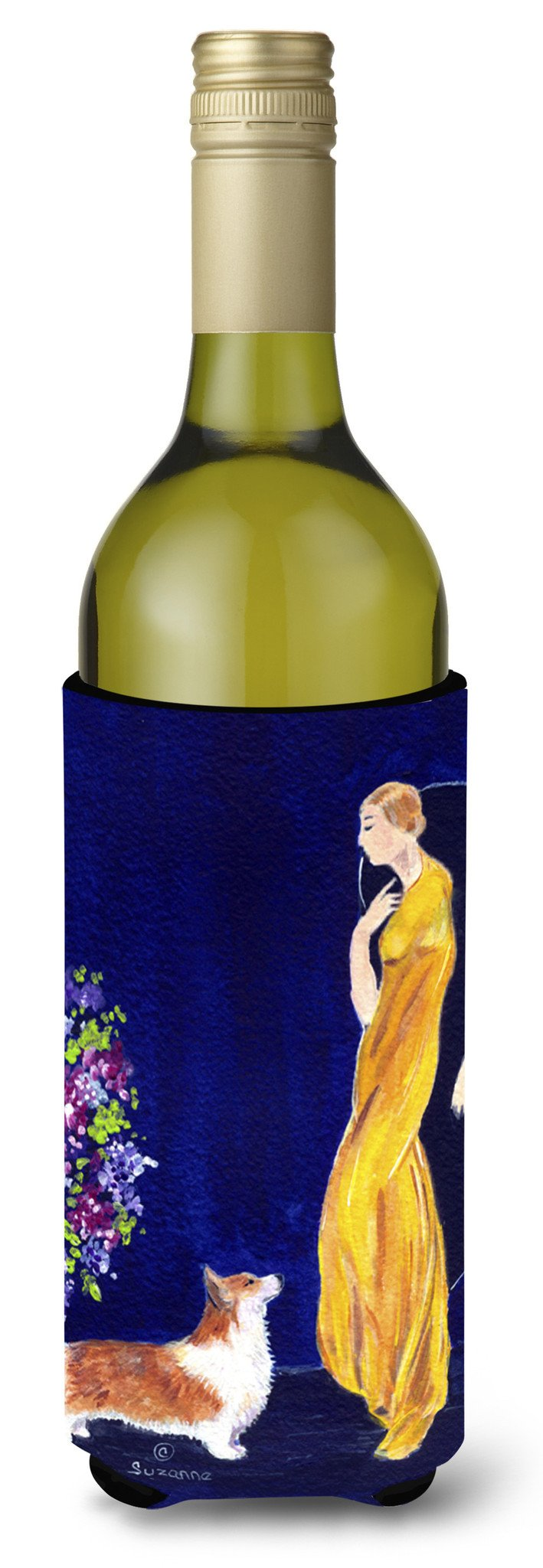 Buy this Lady with her Corgi Wine Bottle Beverage Insulator Beverage Insulator Hugger