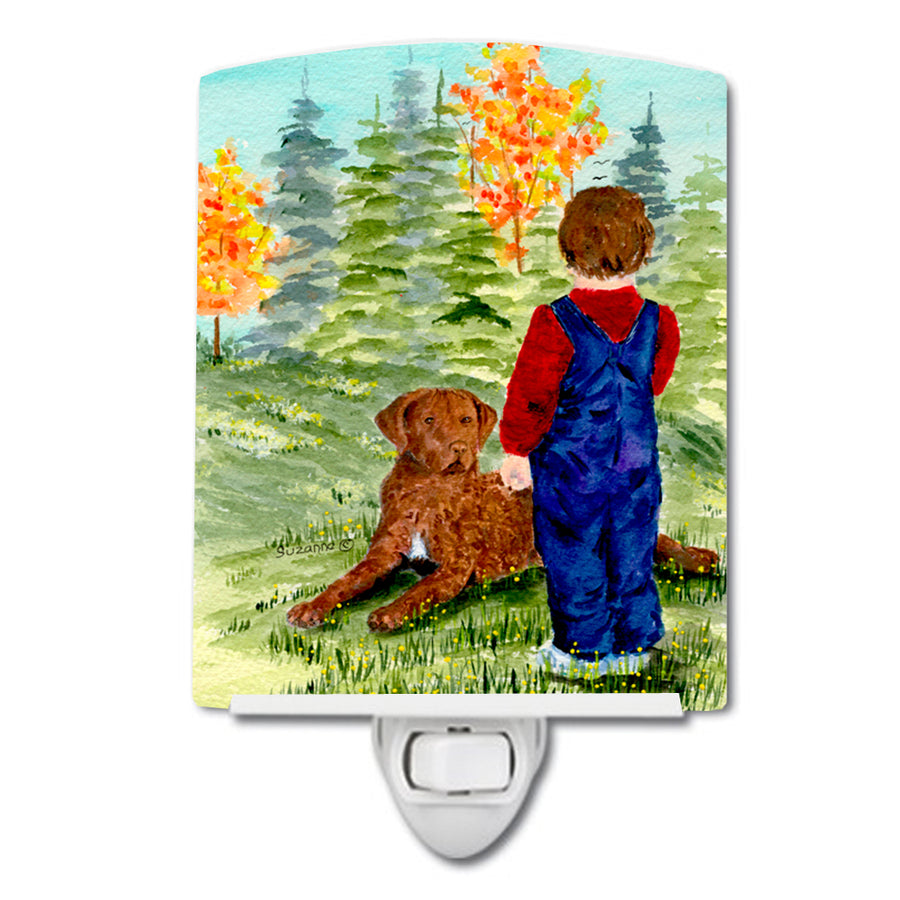 Buy this Little boy with his Chesapeake Bay Retriever Ceramic Night Light SS8547CNL