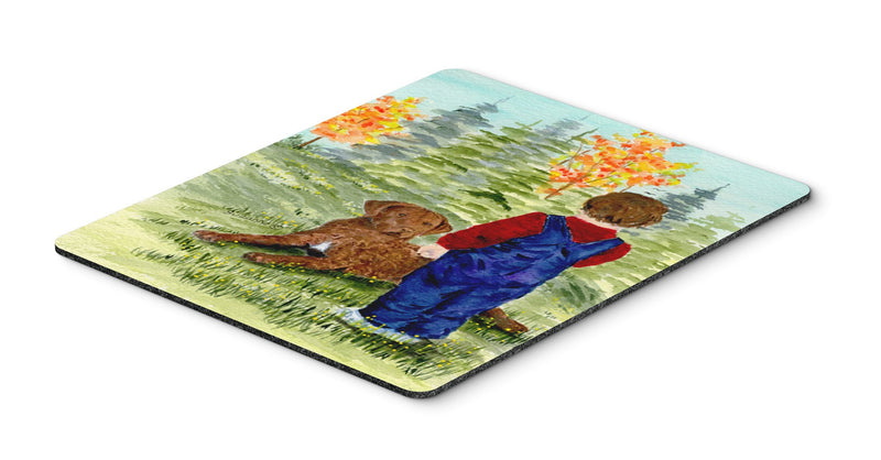 Buy this Little boy with his Chesapeake Bay Retriever Mouse Pad, Hot Pad or Trivet