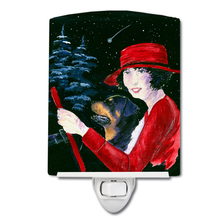 Buy this Lady driving with her Rottweiler Ceramic Night Light SS8551CNL